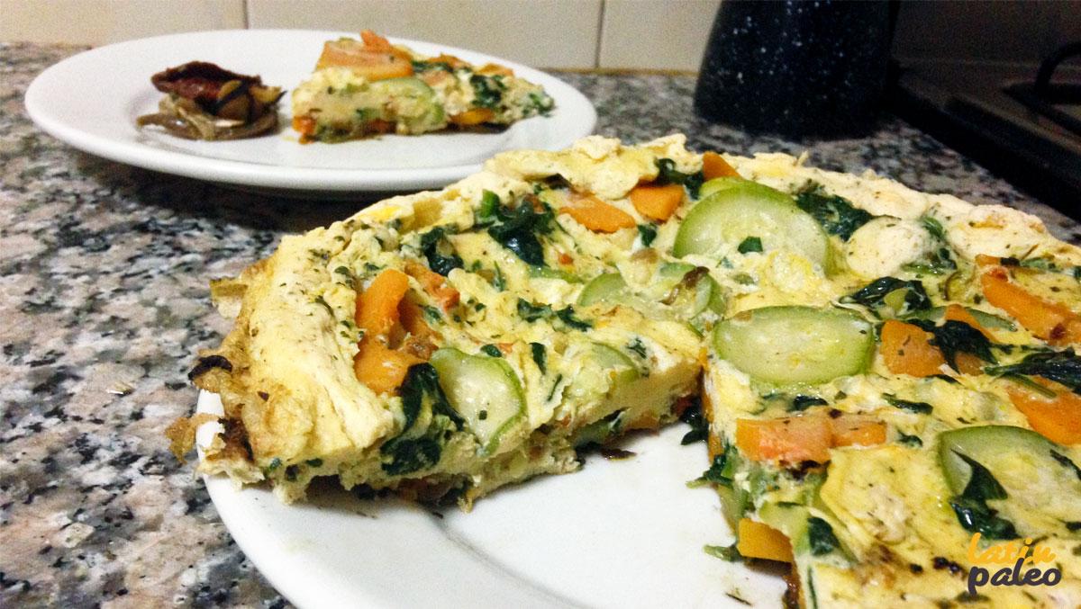 Desayuno Paleo Tortilla de vegetales