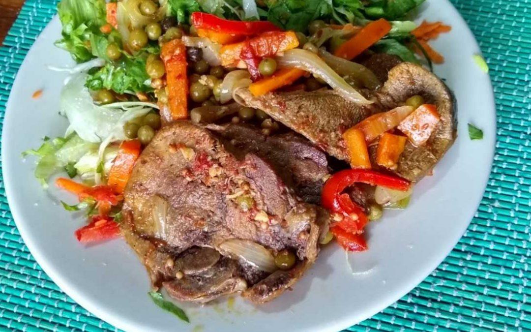 Lengua guisada con vegetales ¡receta fácil!