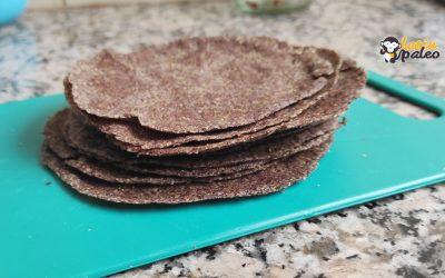 Receta paleo de tortillas, fajitas o rapiditas Sin Gluten
